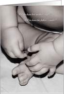 Boy Or Girl Baby Hands And Feet Gender Reveal Party Invitation card