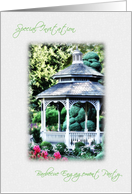 Barbecue Engagement Party Invitation Picnic Gazebo In Garden card