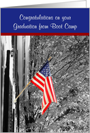 American Flag-boot camp card