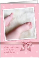 Baby Girl Congrats, Cute Little Toes Card