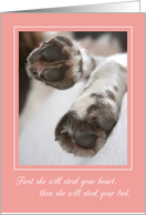 Congratulations New Girl Puppy / Dog card