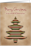 Merry Christmas Veterinarian, Scrapbook Style Tree card