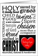 Christian Thinking of You, Graphic Typography card