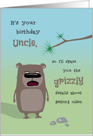 Uncle Birthday, Getting Older Grizzly Details card