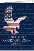Eagle Scout Court of Honor Ceremony Invitation, Bird in Flight card