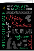 Christmas Word Collage with Nativity card