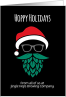 Hoppy Holidays Brewery Business Custom Front card