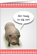 Picnic Invitation, Get Ready to Pig Out! card