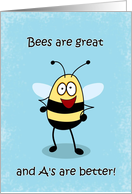 Congratulations on Report Card Bumble Bee Card