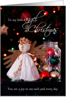 To My Little Angel at Christmas, You are a Joy to Me card