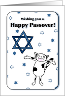 Wishing you a Happy Passover, Holiday, Cat and Star of David card