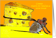 thanks for helping us move house-mouse moving house card