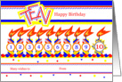 Happy 10th Birthday, Cake with 10 Candles card
