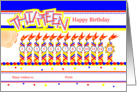 Happy 13th Birthday, Cake with 13 Candles card