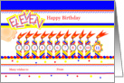 Happy 11th Birthday, Cake with 11 Candles card