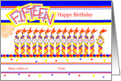 Happy 15th Birthday, Cake with 15 Candles card