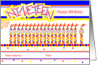 Happy 19th Birthday, Cake with 19 Candles card
