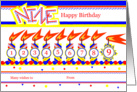 Happy 9th Birthday, Cake with 9 Candles card