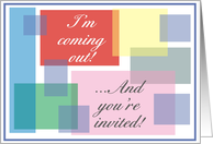 Invitation - Coming Out Party card