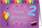 Happy 2nd Birthday Colorful card