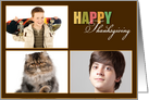 Happy Thanksgiving 2 Pictures Photo Card