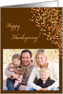 Happy Thanksgiving Leaves Photo Card