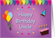 Happy Birthday Uncle Colorful card