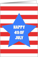 Happy 4th of July Big Star card