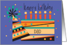 Happy Birthday for Dad, Fishing Rods and Fish card