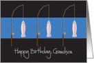 Happy Birthday for Grandson, Fishing Rods and Fish card