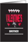 Valentine for Brother, Colorful Words and Hearts card