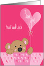 Valentine Aunt & Uncle, with I Love You Cranberry Balloon card