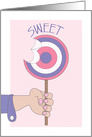 Sweetest Day, with All Day Sweet Purple and Pink Sucker card