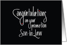 Hand Lettered Congratulations on your promotion Son-in-Law card
