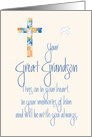 Sympathy in Loss of Great Grandson, Stained Glass Cross card