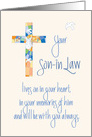 Sympathy in Loss of Son in Law, Stained Glass Cross card