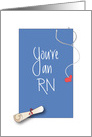 Graduation Congratulations to RN, Diploma and Stethoscope card