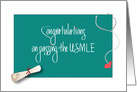 Congratulations on USMLE Exam, Diploma and Stethoscope card