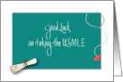 Good Luck on the USMLE Exam, Diploma and Stethoscope card