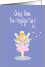 Hospital Fairy Get Well Card, with Nurses Hat and Hearts card