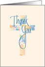 Religious Thank You, with Stained Glass Cross card