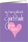Thank you for your Assistance, Heart Filled with Gratitude card