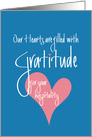 Thank you for Hospitality, Our Hearts Are Filled with Gratitude card