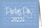 Hand Lettered Doctors' Day 2021 Character Words & Stethoscope card