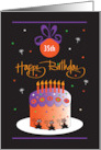 Birthday on Halloween Decorated Birthday Cake with Custom Age card