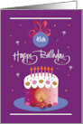 Birthday on Diwali with Birthday Cake, Clay Pot and Custom Age card