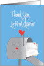 Thank You to Letter Carrier During Coronavirus Mailbox and Hearts card