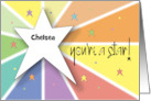Hand Lettered Yippee Congratulations, Colorful Letters & Spirals card