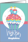 Happy Birthday 10 Year Old, Hand Lettered It's Your Birthday Cupcake card