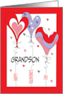 Hand Lettered Valentine's Day for Grandson, Love you Bear-y Much card